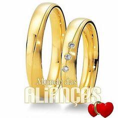 Aliancas de casamento em ouro      Aliança de noivado e casamento  Aliança em ouro amarelo 18k 750  Por: R$ 1.883,00  http://www.mundodasaliancas.com.br/