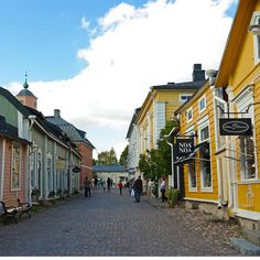 Porvoo, Finland | I loved this little town. It's what most naive, novice travelers think all of Europe looks like. It was so fricken cute. Good chocolate too.