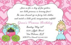 Cute wording for a princess tea party