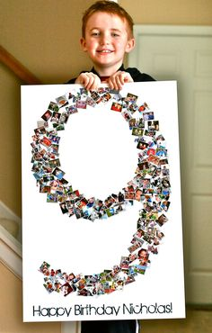 Image Detail for - Birthday Collage Poster : Shape Collage Blog