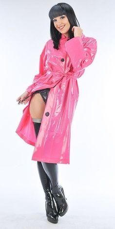 Pink Raincoat, Hooded Raincoat, Plastic Raincoat, Raincoat Jacket, North Face Rain Jacket, Rain Jacket Women, Imper Pvc, Vinyl Clothing, Latex Girls