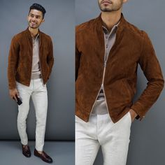 teachingmensfashion: These suede jackets are AMAZING! Check our last ear video where we style them 5 ways https://youtu.be/J6jCB3rKij8