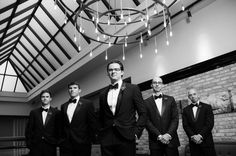 Chicago Wedding Photographer | J. Brown Photography  Creative groomsmen portrait at the Thompson Chicago Hotel.