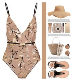 """""""Nude."""" by pjwrdyt ❤ liked on Polyvore featuring Zimmermann, Marni, Old Navy, La Mer, Fujifilm and NYX"""