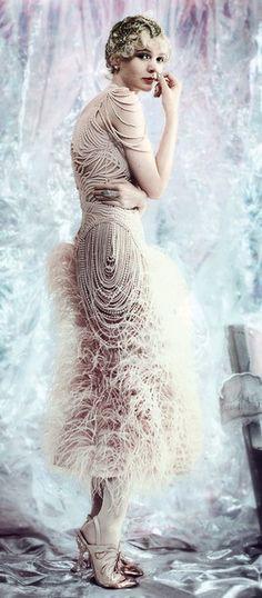 Vogue - McQueen ostrich feather dress