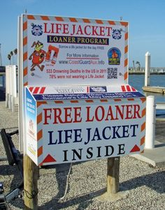 The Coast Guard Auxiliary in Corpus Christi, Texas, has a box of loaner jackets at the city boat ramp