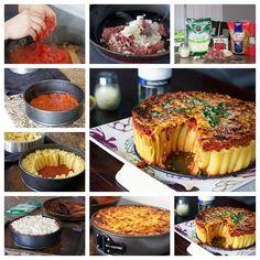 DIY Rigatoni Pasta Pie
