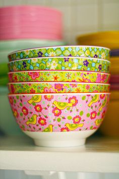 RICE Melamine bowls at Tipsy Tessie Love! I <3 these and I've got these exact colours! :-D