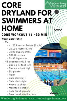 Dry Land Swim Workouts, Workouts For Swimmers, Swimming Pool Exercises, Fun Workouts, At Home Workouts, Core Workouts, Sprint Triathlon Training, Swim Training, At Home Core Workout