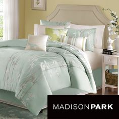 Everything that you need to create a stylish new look in the bedroom is included in this Madison park floral comforter set. This seven-piece comforter set is crafted from 100 percent polyester for easy care and long-lasting good looks.