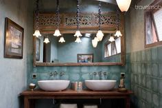 Old Caved Panel as Mirror. Bed  Breakfast in Bali, Indonesia - travelmob.