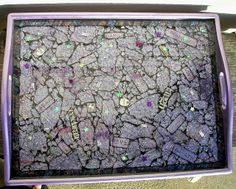 Housewarming gift-serving tray by Glass Garden Creations / Sharon Haddock, via Flickr