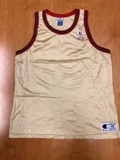 23d42667d Vintage 1998 Philadelphia 76ers Blank Champion Gold Jersey Size 48 michael  jordan charles barkley dikembe mutombo hat shirt nba finals