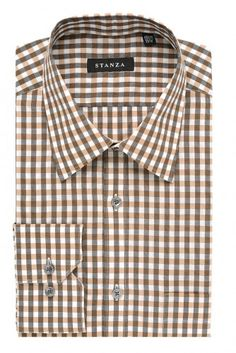 Bring office outfits to life with this gingham check cotton shirt. Its colorful hues are refined yet lively, and will stand out when worn with a dark suit. Wear this piece with a contrasting pocket square to dress up for stylish events.