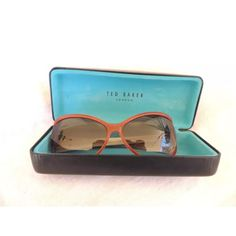 Ted Baker London Geri acetate gradient gray lens Very lightly worn, they have no scrstches on the lense and come with their case.  Gray gradient lens, 100% UV protectant.  58mm width, 14mm nose bridge, 44mm vertical and 130mm arm length. Ted Baker Accessories Sunglasses