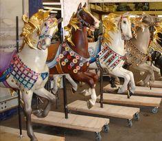 34 Best Carousel horses, Illions images in 2020   Carousel ...