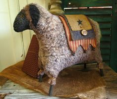 The Button Box - Made from a pattern by Pineberry Lane - Sheep
