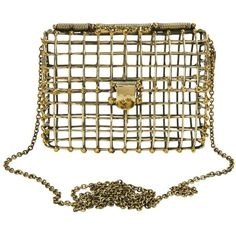 Open Cage Clutch with Chain - ANNDRA NEEN Open Cage Clutch with Chain ($725) ❤ liked on Polyvore
