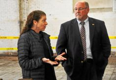 Greylock Mill developers in North Adams and officials celebrate $173,900 in USDA grants toward a dairy production facility.