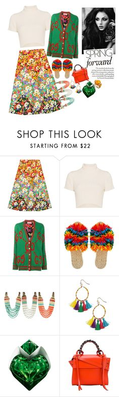 """0.00.091"" by estrellica ❤ liked on Polyvore featuring Gucci, Staud, Panacea, Thierry Mugler, Lara and Elena Ghisellini"