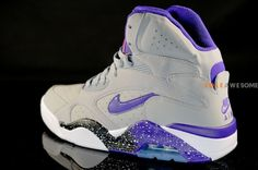 Nike Air Force 180 High 'Wolf Grey/Electric Orange-Court Purple