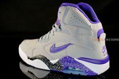 Nike Air Force 180 High 'Wolf Grey/Electric Orange-Court Purple