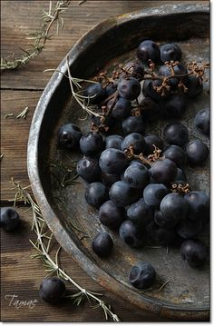 Grapes can grow in almost every type of climate, and while they do particulary well in regions such as the Mediterranean, they are now cultivated on six continents. Fruit And Veg, Fruits And Vegetables, Rustic Food Photography, Raw Food Recipes, Food Styling, Raisin, Food Art, Grape Vines, Blueberry