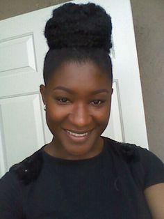 Faux bun using Marley hair! #Natural #protectivestyle #fauxbun