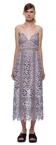 arabella midi dress in smoked lilac