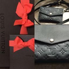 Louis Vuitton Twinset & Key Pouch/Wallet in Empreinte Nior