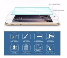 9H 0.26mm Glossy 3D Curved Carbon Fiber Soft Edge Tempered Glass For iPhone 6 6S Plus Phone Screen Protector Film For iPhone 7  Color: Black, White,Gold,Rose gold Edge: 3D arc surface 9H 0.26mm Glossy Carbon Fiber 3D Curved Edge Coated Tempered Glass For iPhone 6 6S Plus Phone Screen Protector...