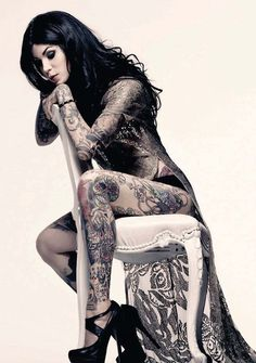 I'm sure all you guys will love this and all the ladies in the house might get inspired to get a really sexy tattoo! Check out these seductive tattoos inspired by alternative style, pin up style, and by the suicide girls...