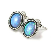 Silver and Opals Earrings - catalog