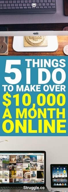 I can't work a 9-5 job. Besides they hold back my earning potential. Here are 5 ways that I make over $10,000 every single month online.