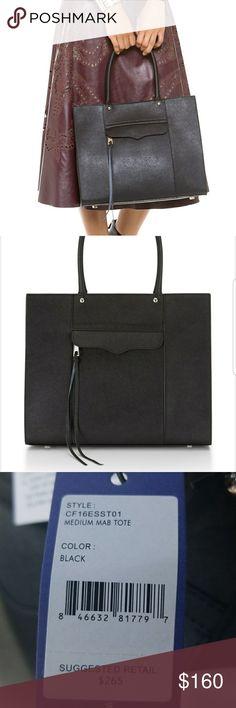 💜Host Pick Rebecca Minkoff Tote Rebecca Minkoff saffiano leather tote bag with silvertone hardware Rebecca Minkoff Bags