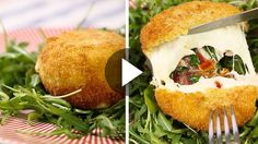 Appetizers Recipes Ingredients for 4 servings: 4 mozzarella balls about 2 slices of ham or spe … Greek Recipes, Veggie Recipes, Appetizer Recipes, Vegetarian Recipes, Healthy Recipes, Mozzarella, Happy Foods, Diy Food, I Love Food