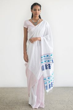 Swetha Dumabara Sitththam Saree from FashionMarket.lk
