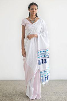 Swetha Dumabara Sitththam Saree from FashionMarket.lk