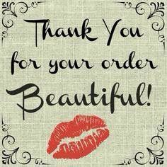 thank you for your order Younique!!!!