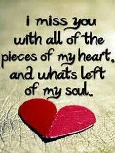 . miss you too...