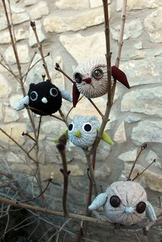 Owls- could be made out of socks or gloves... very cute