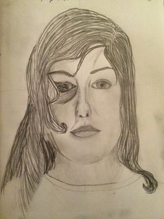 Charlotte, academic self portrait for the Y9 'This is Me' Portrait Project, St Marys Catholic High School