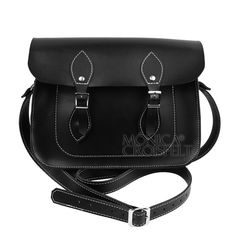 Bolsa Croisfelt Satchel II Feminina, Carteiro Preta 11'' Retrô Vintage Bag Comprar no Brasil #transversal #classica #moda