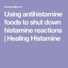 Tips for Anti Diet Solution - Using antihistamine foods to shut down histamine reactions Holistic Nutrition, Health And Wellness, Health Tips, Anti Histamine Foods, Natural Antihistamine, Mast Cell Activation Syndrome, Gaps Diet, Anti Inflammatory Recipes, Food Allergies