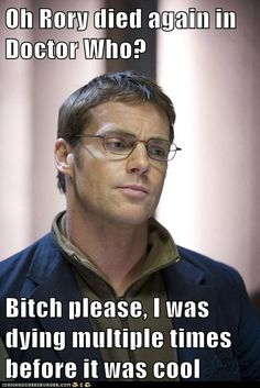 Michael Shanks in Stargate- and he did die over and over, and it was weirder every time!