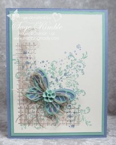 Abstract background for handmade card from Stamping Madly using Timeless Textures stamp set from Stampin' Up!