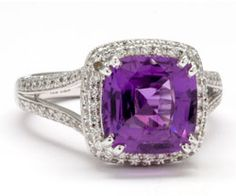 Purple Sapphire Ring