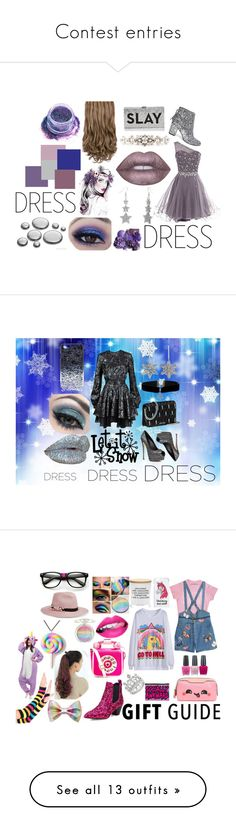 """Contest entries"" by lottie2004 ❤ liked on Polyvore featuring contests, Steve Madden, Milly, Dolce&Gabbana, Lime Crime, In Your Dreams, partydress, lavender, Just Cavalli and Giuseppe Zanotti"