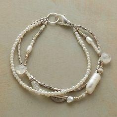 3 strand mixed element pearl bracelet