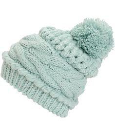 This slouchy beanie is made with a thick and chunky mixed knit construction finished with a large pom pom at the top for a cozy and trendy look perfect for the season.